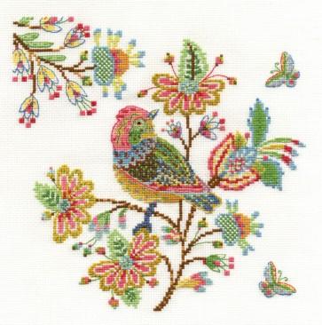 DMC Cross Stitch Kit - Bird - Embroidered Morning