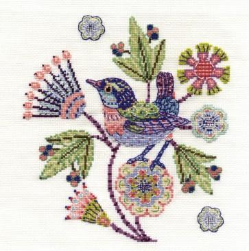 DMC Cross Stitch Kit - Bird - Jenny Wren