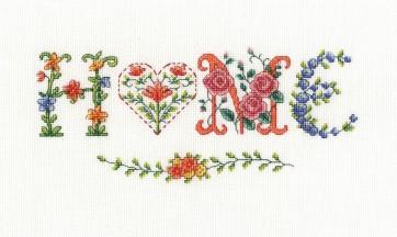 DMC Cross Stitch Kit - Flowers - Home