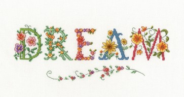 DMC Cross Stitch Kit - Flowers - Dream