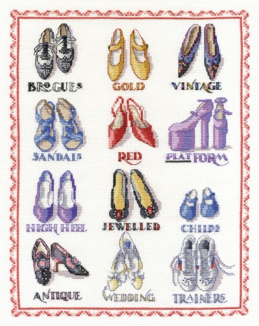 DMC Cross Stitch Kit - Sampler - Shoes Sampler