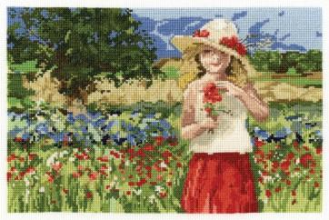 DMC Cross Stitch Kit - Nostalgia - Poppy Girl