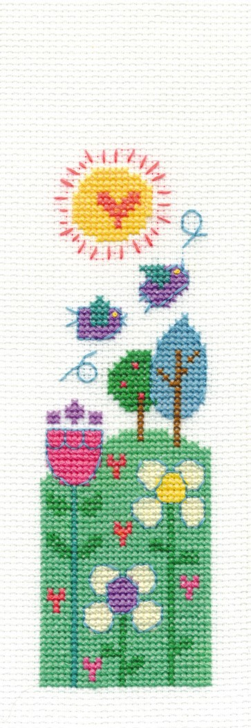 DMC Cross Stitch Kit - Modern - Beautiful Day Bookmark