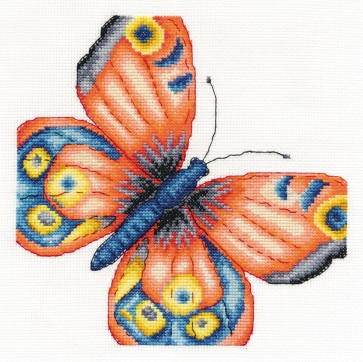 DMC Cross Stitch Kit - Butterflies And Insects - Peacock Butterfly