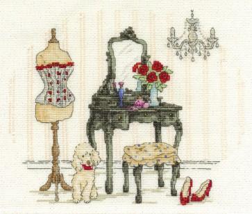 DMC Cross Stitch Kit - Vintage Chic - Le Boudoir