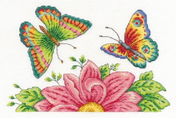 DMC Cross Stitch Kit - Butterflies And Insects - Butterfly Garden