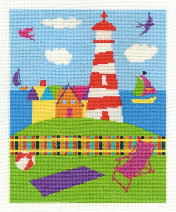 DMC Cross Stitch Kit - By The Seaside - The Lighthouse
