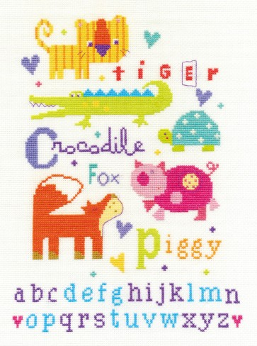 DMC Cross Stitch Kit - For The Little Ones - Animal Alphabet