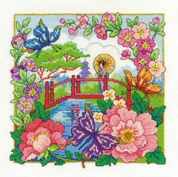 DMC Cross Stitch Kit - Oriental Delight - Oriental Landscape