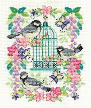 DMC Cross Stitch Kit - Oriental Delight - Oriental Birdcage
