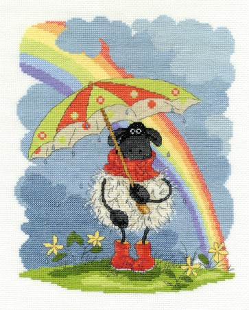 DMC Cross Stitch Kit - Shabby Sheep - April Showers
