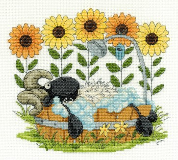 DMC Cross Stitch Kit - Shabby Sheep - Time to Relax