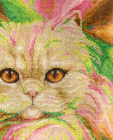 DMC Cross Stitch Kit - Cats - Persian