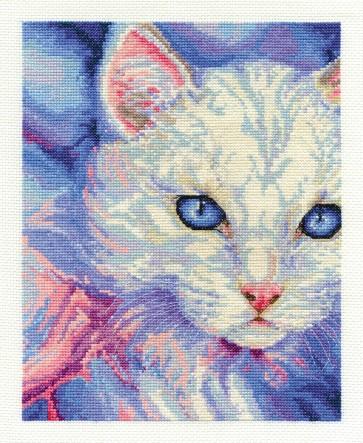 DMC Cross Stitch Kit - Cats - Turkish Angora