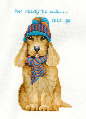 DMC Cross Stitch Kit - Dogs - Cocker Spaniel