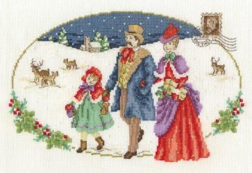 DMC Cross Stitch Kit - Vintage Christmas - Family Visit