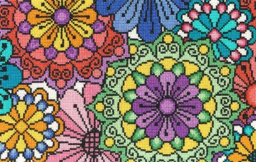 DMC Cross Stitch Kit - Flowered Forms - Statement Flowers