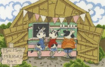 DMC Cross Stitch Kit - Cows On The Moo-ve - The Milkshake Barn