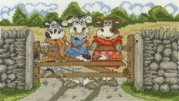 DMC Cross Stitch Kit - Cows On The Moo-ve - Hanging Out