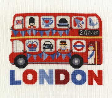 DMC Cross Stitch Kit - London - London Bus
