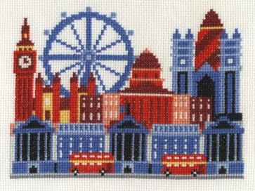 DMC Cross Stitch Kit - London - London City Scene