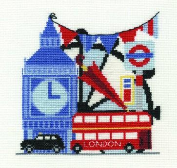 DMC Cross Stitch Kit - London - London Sight-Seeing