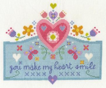 DMC Cross Stitch Kit - You Make My Heart Smile