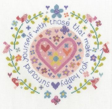 DMC Cross Stitch Kit - Those That Make You Happy
