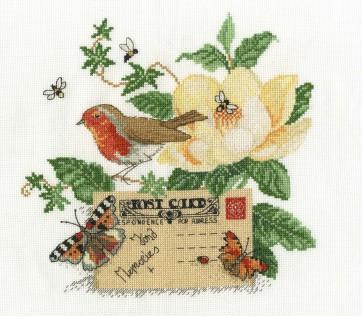 DMC Cross Stitch Kit - Beautiful Birds - Robin