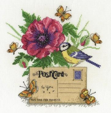 DMC Cross Stitch Kit - Beautiful Birds - Bluetit