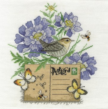 DMC Cross Stitch Kit - Beautiful Birds - Wren