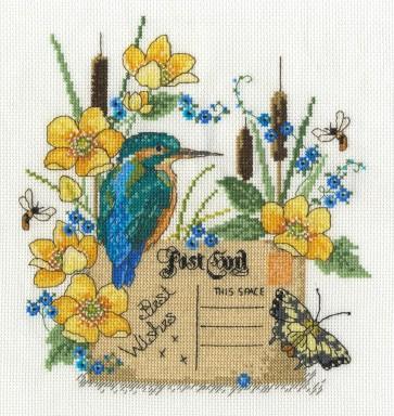DMC Cross Stitch Kit - Beautiful Birds - Kingfisher