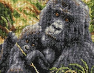 DMC Cross Stitch Kit - Safari Animals - Maternal Instinct
