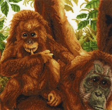 DMC Cross Stitch Kit - Safari Animals - On Dads Shoulder
