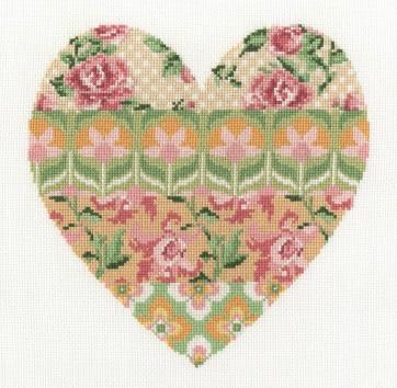DMC Cross Stitch Kit - Floral Hearts - Floral Arrangement