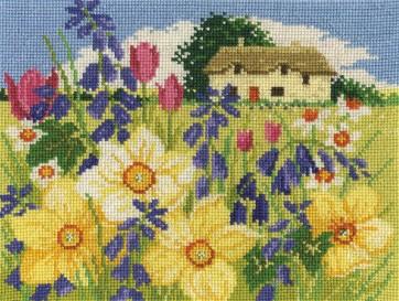 DMC Cross Stitch Kit - Seasonal Landscapes - Spring Bloom