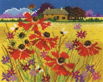 DMC Cross Stitch Kit - Seasonal Landscapes - Autumn Pasture