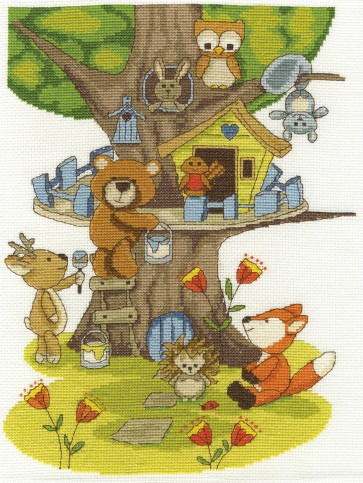 DMC Cross Stitch Kit - The Fabulous Forest - Building the Treehouse