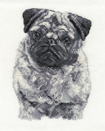 DMC Cross Stitch Kit - Dogs - Pug