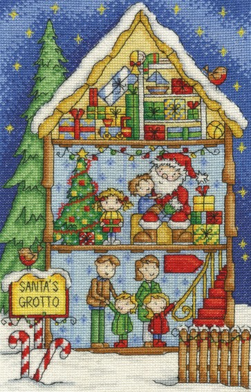 DMC Cross Stitch Kit - Inside Christmas - Santa's Grotto