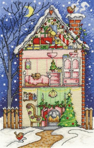 DMC Cross Stitch Kit - Inside Christmas - Christmas at Home