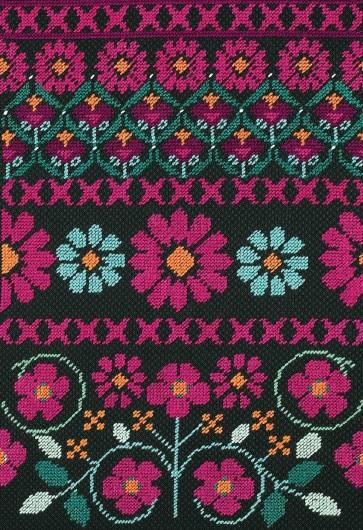 DMC Counted Half Cross Stitch Kit - Pink Geo Flowers