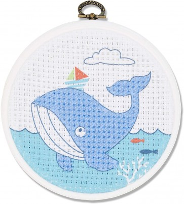 DMC Printed Embroidery Kit - The Whale