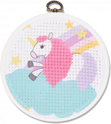 DMC Printed Embroidery Kit - The Unicorn