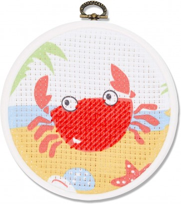 DMC Printed Embroidery Kit - The Crab