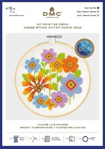 DMC Counted Cross Stitch Kit - Bright Flowerheads