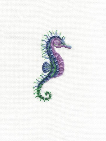DMC Counted Cross Stitch Kit - Stately Seahorse