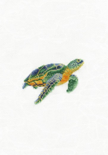 DMC Counted Cross Stitch Kit - Tranquil Turtle