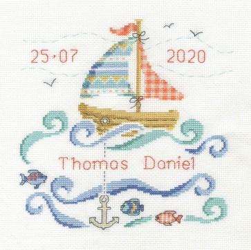 DMC Counted Cross Stitch Kit - Sail Boat Baby