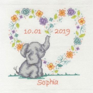 DMC Counted Cross Stitch Kit - Elephant Baby